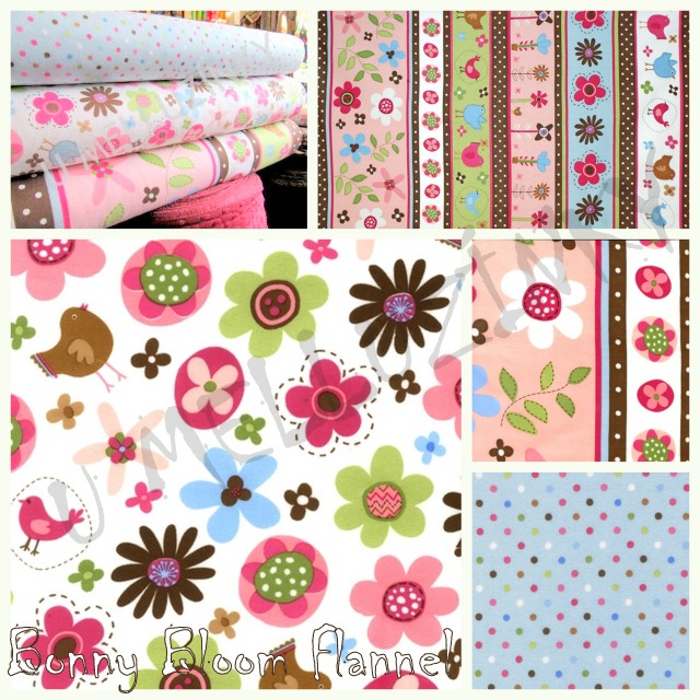Bonny Bloom Flannel by Lesley Grainger