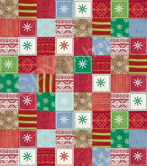 SPX Fabrics/Bundle Up- BAVLNA - Vánočí patchwork